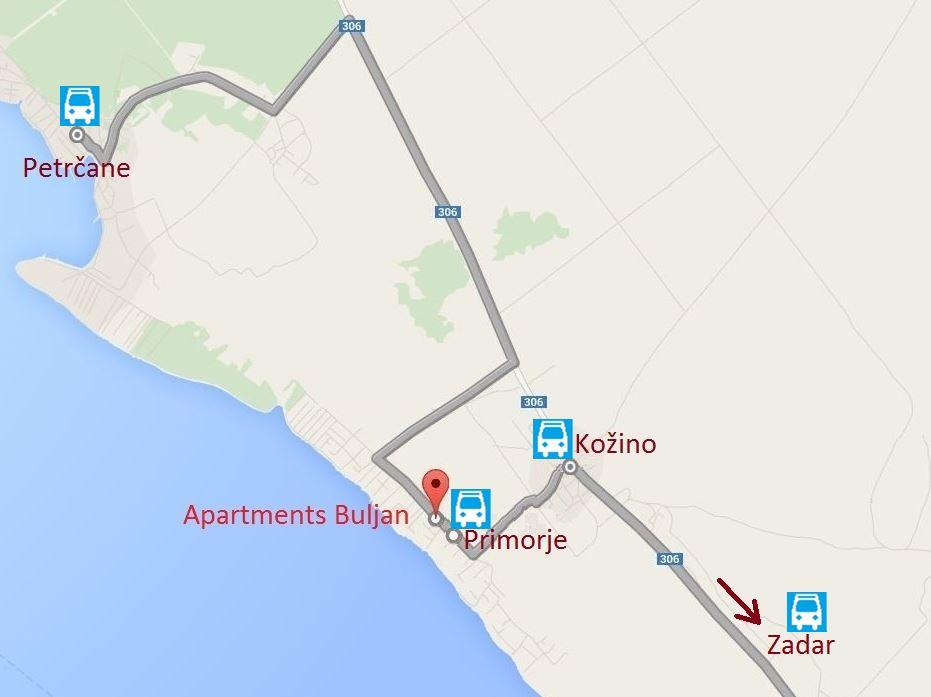 BUS line: Zadar-Kozino-Primorje-Petrcane